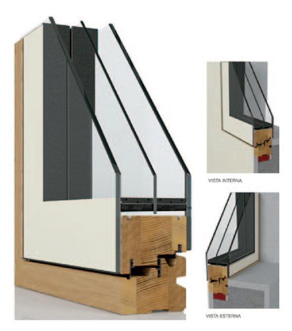 finestre in legno Flat